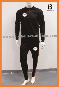 2018 cool design top newest style polyester slim fit tracksuit