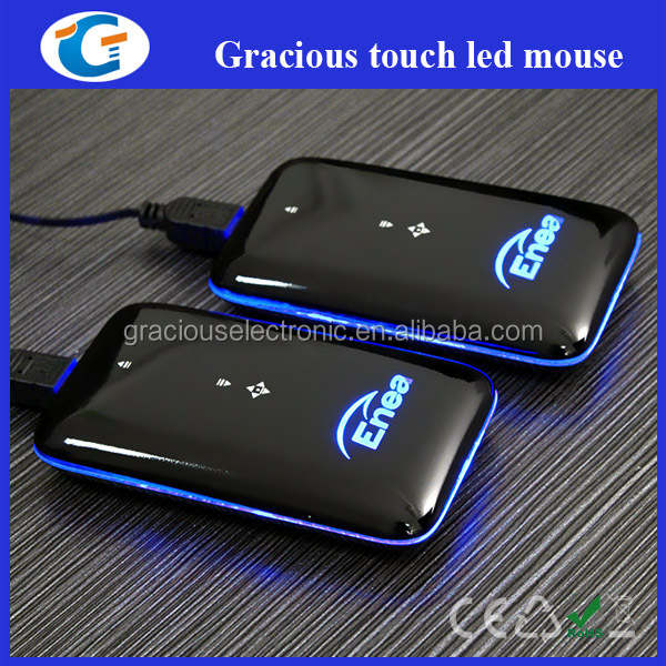 Corporate gift custom wired optical arc touch mouse