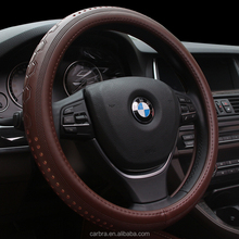 Wholesale Car 13 Inch Leather Steering Wheel Cover