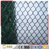 Direct supplier galvanized pvc coated square wire mesh chain link fence