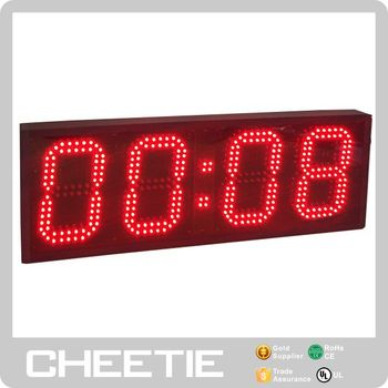 Hot Selling USA Red 4 Digital LED Clock Gone Bad Remote MDUSA Wall Timer