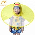 EVA waterproof Yellow Duck UFO raincoat rain poncho