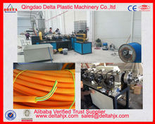 Electrical wire protect plastic corrugated conduit pipe making machine