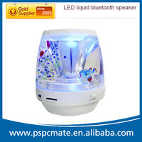 Innovative Gift Portable Handfree Liquid Aqua Wireless Bluetooth speaker with colorful led light