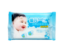 The baby comfortable soft wet paper towels