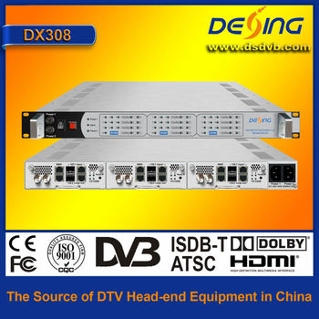 DX308 IP QAM modulator (2 GE in, 8 QAM out)