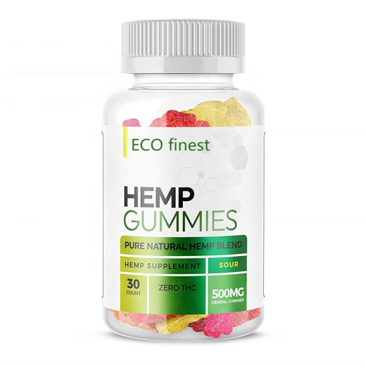 OEM Hemp Gummies Candy For Pain, Stress & Anxiety Omega 3,6,9, Vitamin B,E Made in China