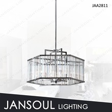 Popular silver modern crystal pendant light