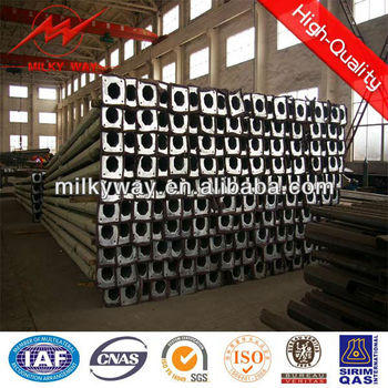 hot dip galvanized mid-hinged steel mast designer and manufactuer