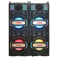 temeisheng 2.0 active stage speakers system with one UHF wireless microphone bt fm radio usb sd