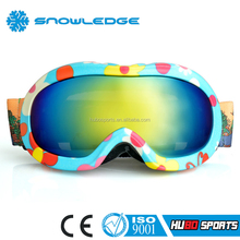 Top Quality Kids Ski Goggles for Children Snow Sports Eyewear Anit-fog and UV Snowboard Goggles for Boys and Girls