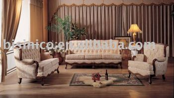 High Quality Comfortable Antique Sofa Set Chesterfield Sofa B47038