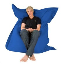 Bagz 4 way bean bag lounger giant outdoor floor cushion blue water resistant beanbag