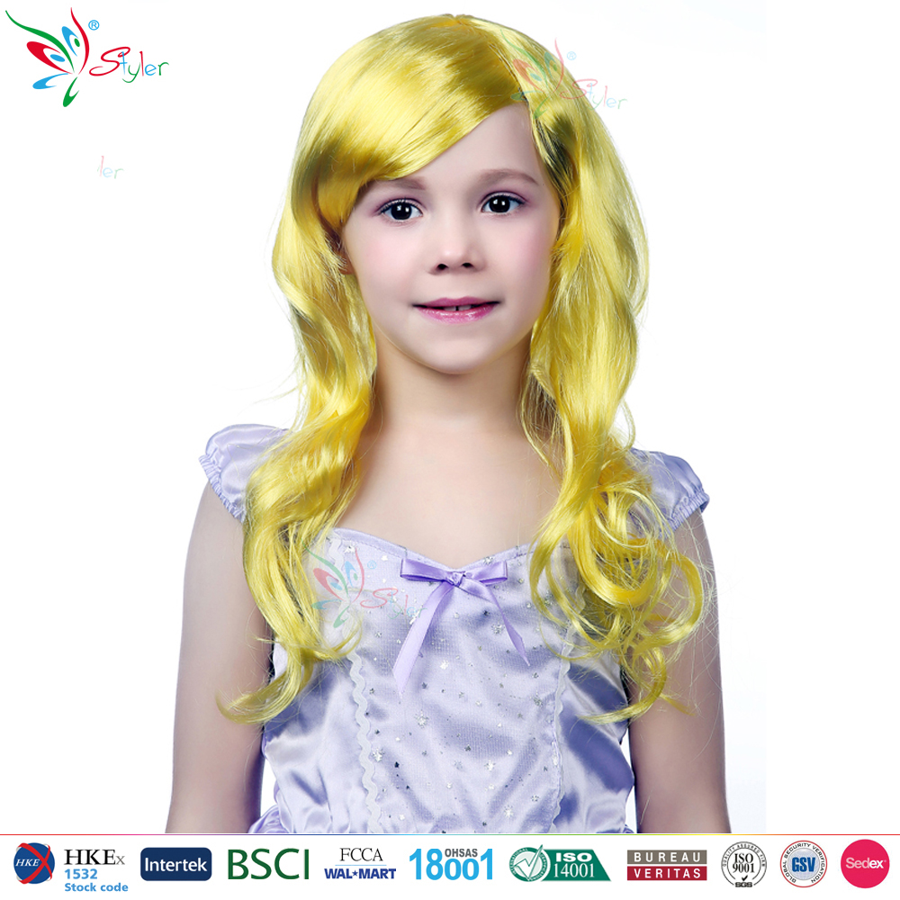 children halloween carnival synthetic wigs colorful cheap kids party wig