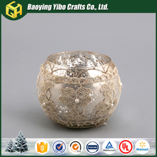 2016 New product round glass candle holder