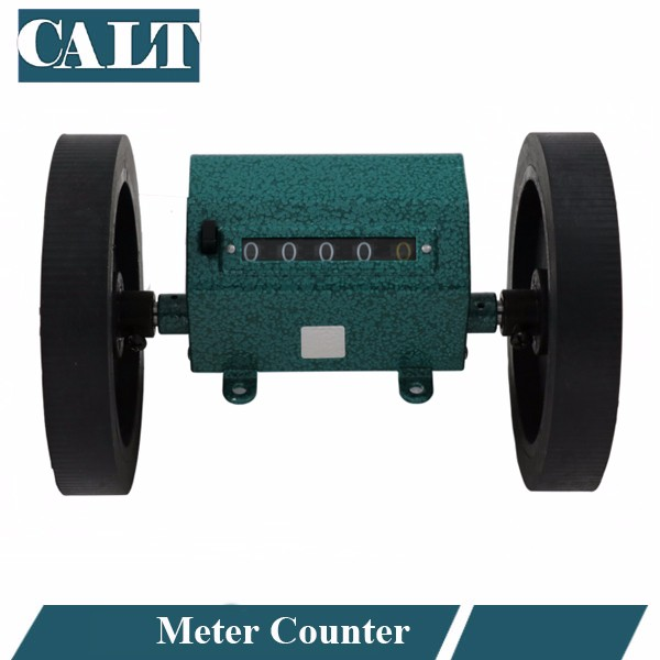 Roller wheel mechanical counter meter Z96-F textile leather plastic film length record meter