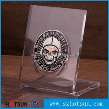 customized cheap clear acrylic coin display stand wholesale