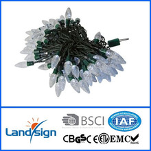 New arrival outdoor decorative 10 m solar led string pine cone light for Christmas