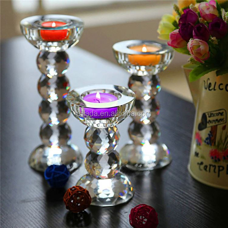 Newest sale excellent quality crystal floor standing candle holder from China
