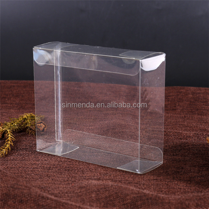 clear PVC packaging box for cell phone case, flat pack plastic box