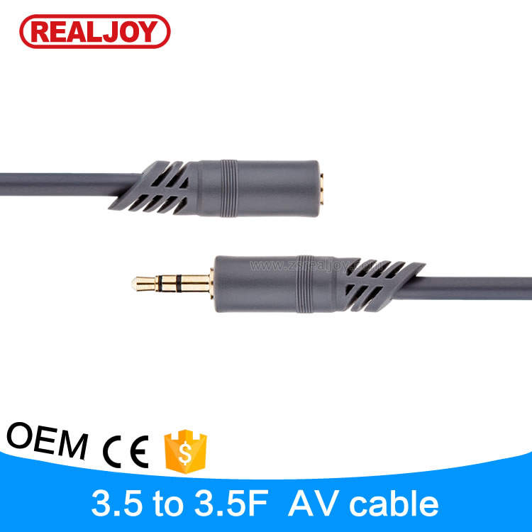 China price list hot item gold plated 3m 3.5mm male to female audio cable