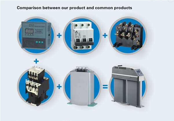 25-10 Low Voltage Power Compensation Kvar Power Capacitor With LCD Power Electrolytic Capacitor