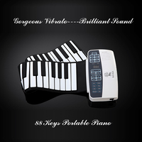 Musical portable rechargeable piano keyboard flexible roll up digital piano 88 key electronic battery operated keyboard piano