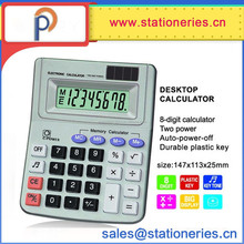 electronic desktop dual power 8-digit calculator desk calculator