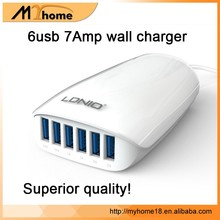 DHL free shipping 100% original LDNIO 6 USB port charger EU/US /UK/AU plug 5.4A output with retail box