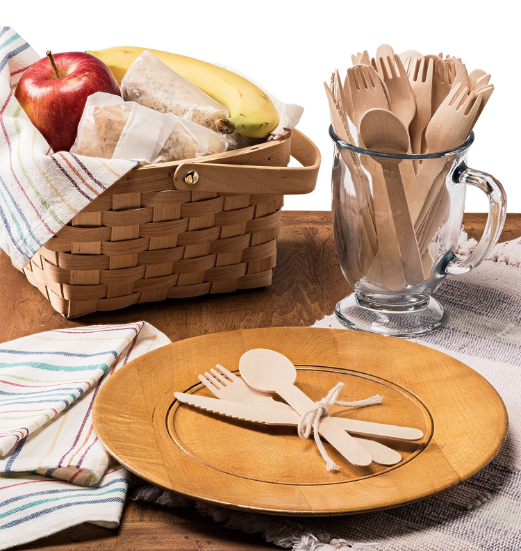 High quality Disposable Wooden Cutlery Set for FBA