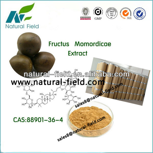 best plant extract Fructus Momordicae P.E powder total glycosides7% - 99%,glycosides V:1% -55%, CAS:88901-36-4
