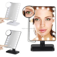 Battery operated 20 leds led makeup mirror desktop Vanity Makeup Mirror with led light make up mirror