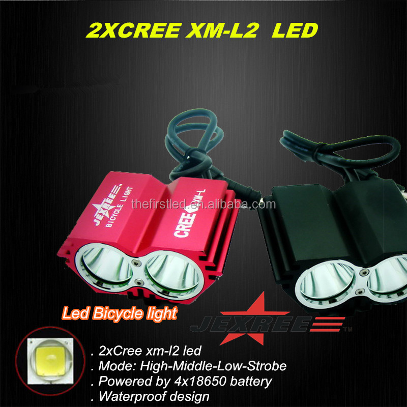 JEXREE 2000 lumen high power cree xml T6 led bicycle Light <strong>bike</strong> light