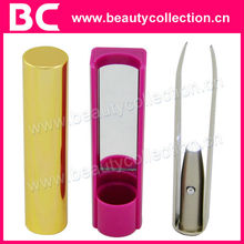 BC-0812 White LED light Eyelash Tweezer with Mirror
