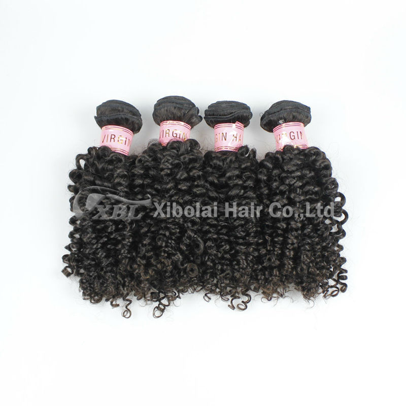 XBL Factory Price Afro Kinky Curly 100% Indian Human Hair Extensions