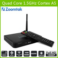Newest android set top box T5 tv box xbmc tv dongle android quad core tv box