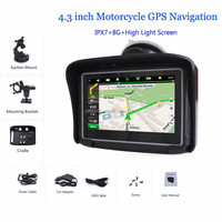 2015 Multi-Function 4.3 inch touch screen Motorcycle waterproof GPS navigation MT-4302B#000A0013