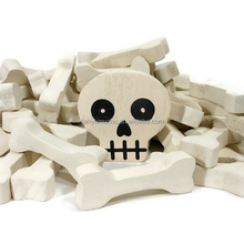Natural Skull and Bones Halloween Craft Supplies Woodworking Supply made in China