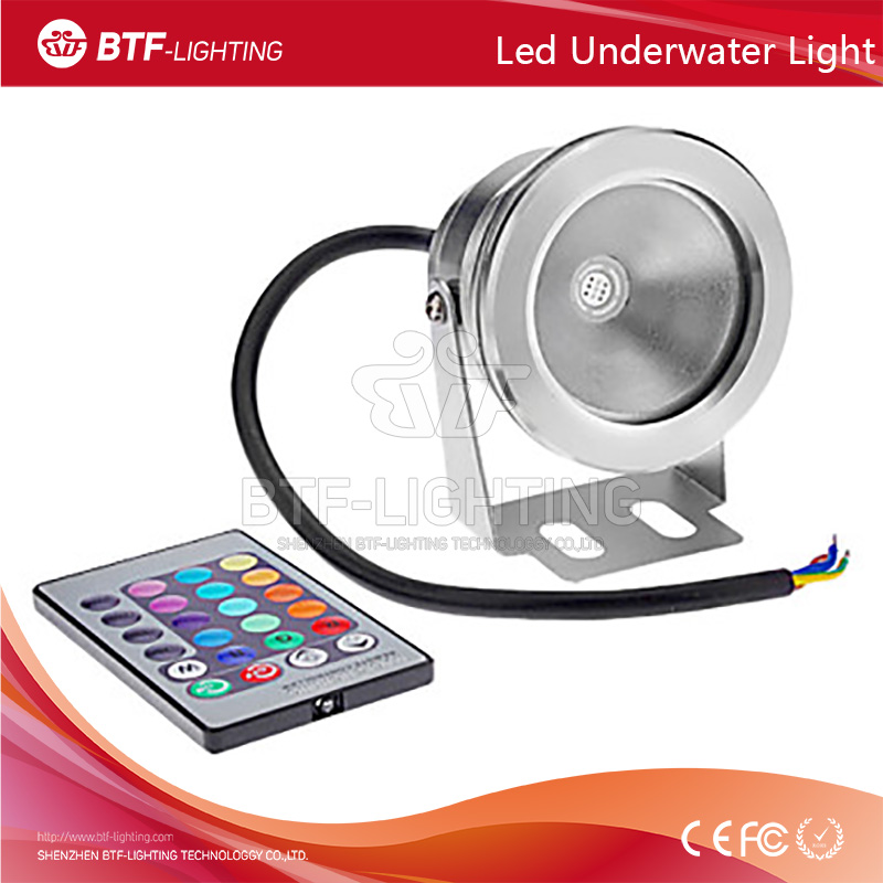 10W 85-265V RGB Color Waterproof Floodlight swimming pool underwater light wireless with Plain mirror
