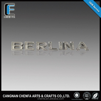 New style 3D plastic chrome plating car emblem
