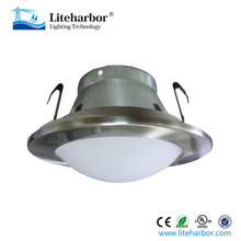 MR16 4 Inch 12v Low Voltage led recessed Shower Baffle downlight Trim with Dome Lens