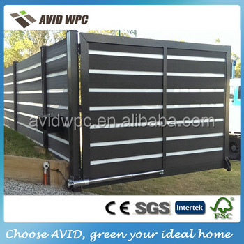 Easy installing new cheap WPC decorative aluminum bamboo plastic fence panels wholesale