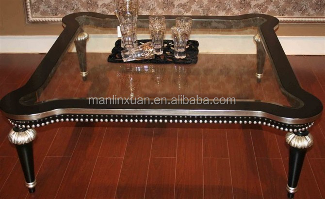 luxury glass top coffee table C1099