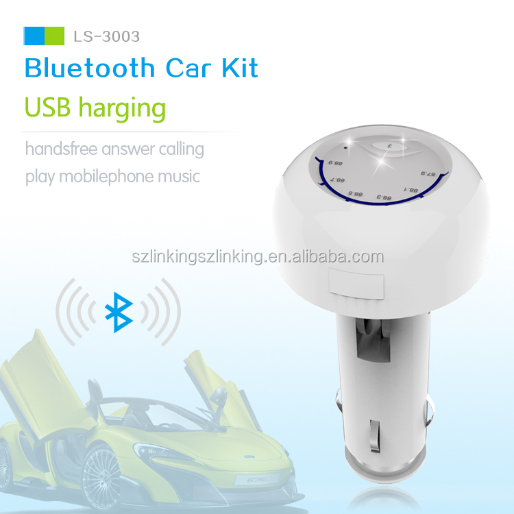 Product Design Patent Audio FM Tuner Adapter Wireless Music Player Bluetooth Car Kit
