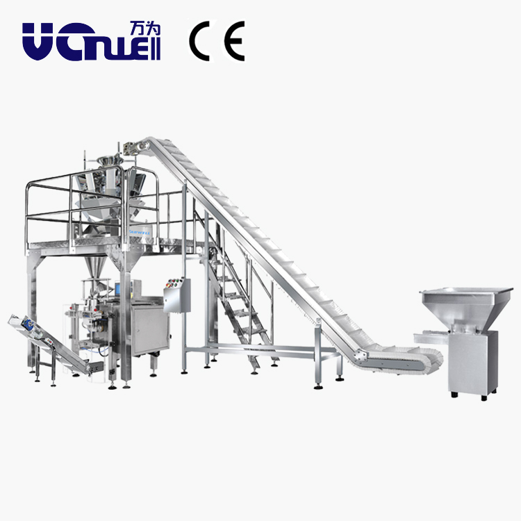 food packaging machine belt conveyor system