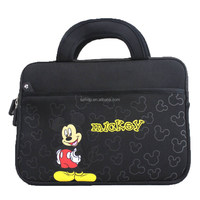 Cartoon neoprene notebook bag for kids and students