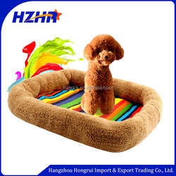 wholesale 2016 novelty plush dog kennel rainbow design colour pet dog kennel