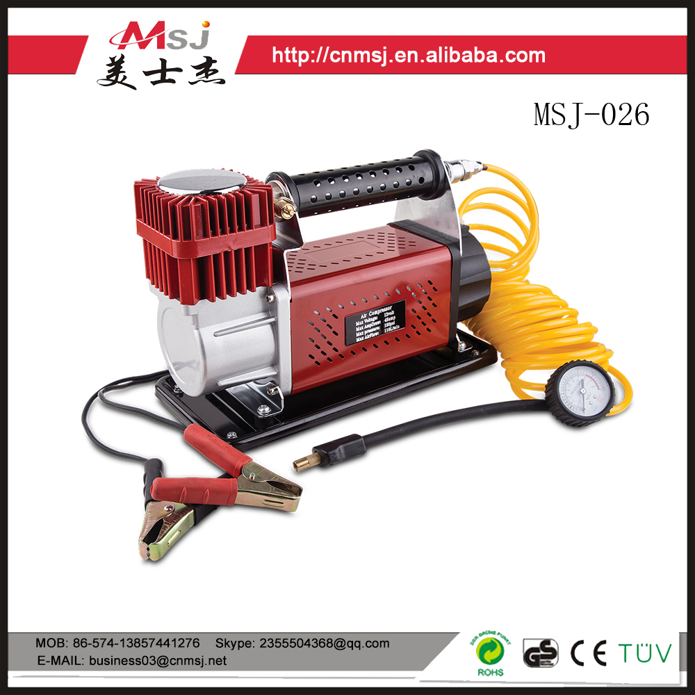 MSJ 12 2016 popular sales volt mini air compressor/ mobile metal air compressor
