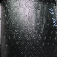 DH243 Black crocodile PVC synthetic leather for sofa and furniture