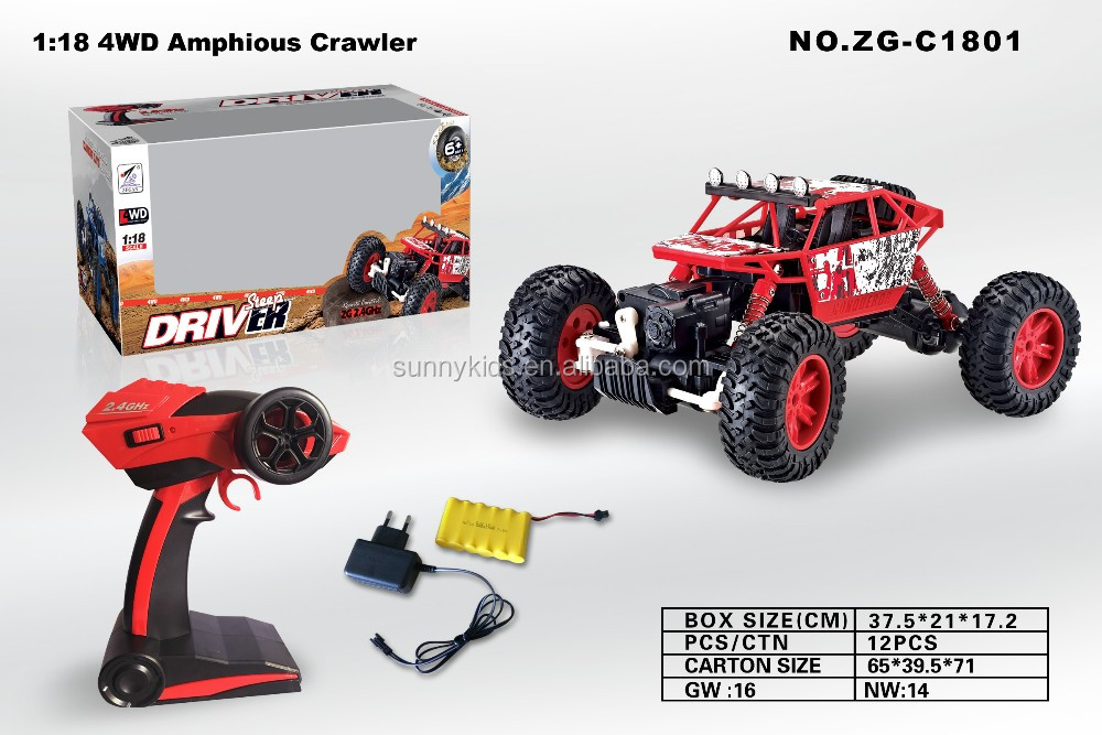 High speed rc toys 2.4G short truck rc car 1:18 electric car buggy remote control climbing car
